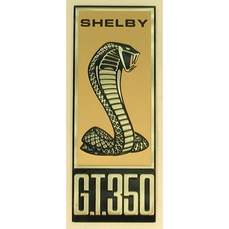 1967 Mustang Front Fender Nameplate Shelby Gt350 Emblem