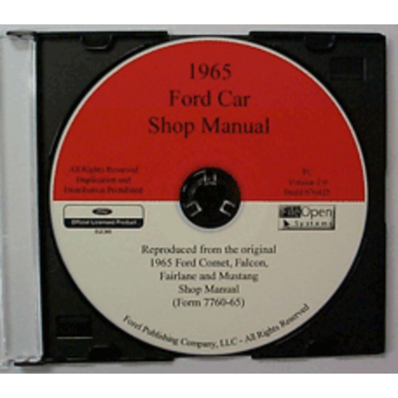 1965 mustang shop manuals  cdrom 1965 mustang shop manual pdf 1965 ford mustang shop manual