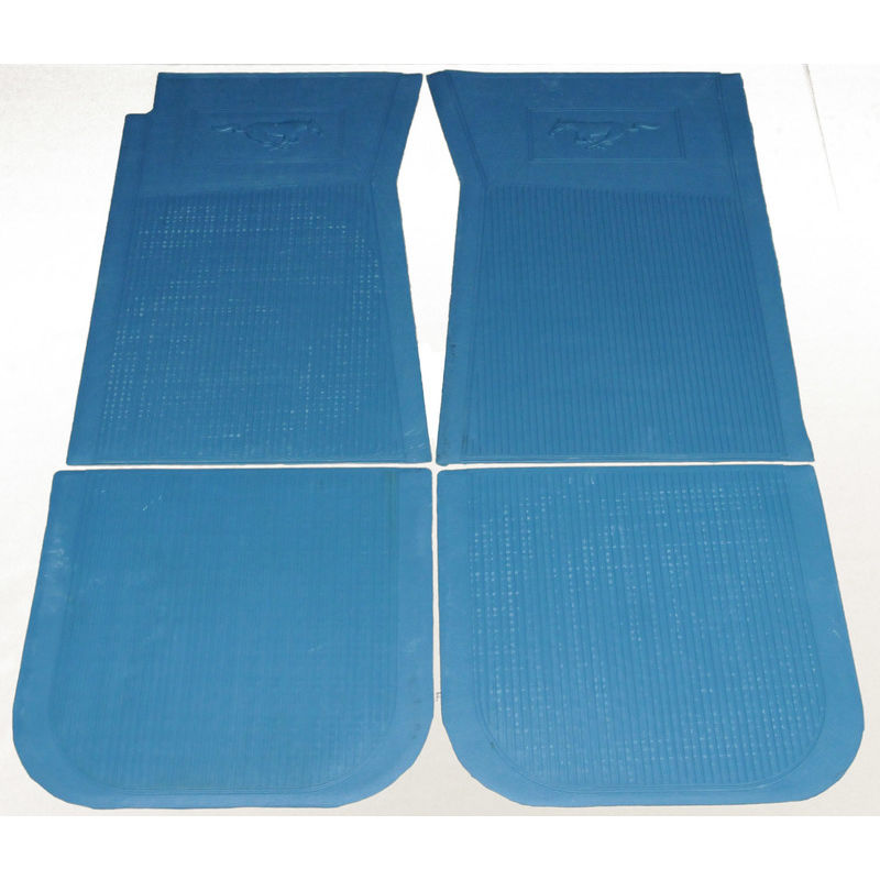 1965 1973 mustang floor mats rubber set of 4