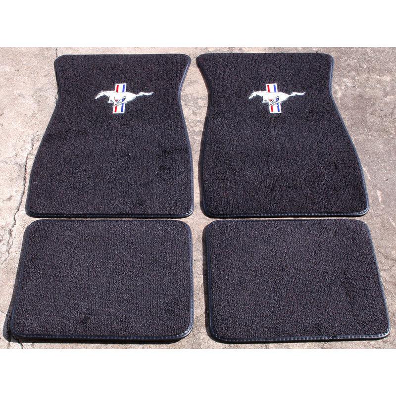1965 1973 mustang pony floor mats for 1965 mustang floor mats