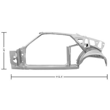 1969 Mustang Dynacorn Door / Quarter Frame Assembly, FB, LH, Weld Thru Primer