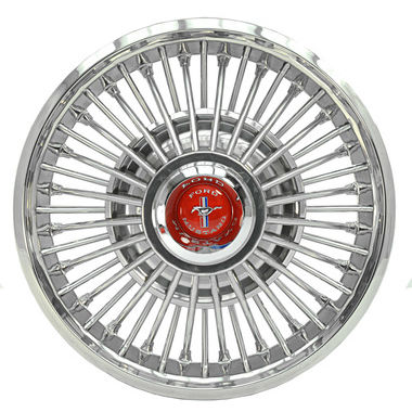 1967-1969 Mustang Wheel Cover, Wire w/Metal Center w/Red Center