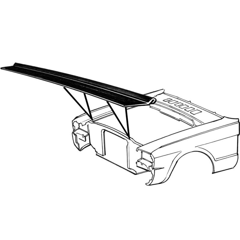 Mustang radiator support to hood seal