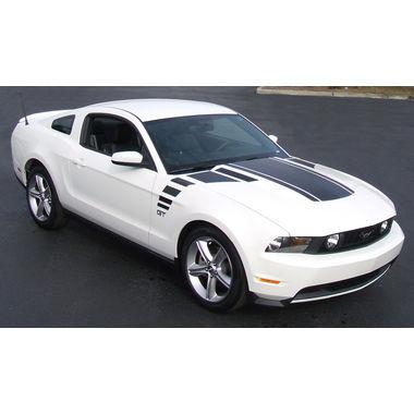 2010-2011 Mustang Triple Hood Bulge Strip, w/Faders, No Scoop