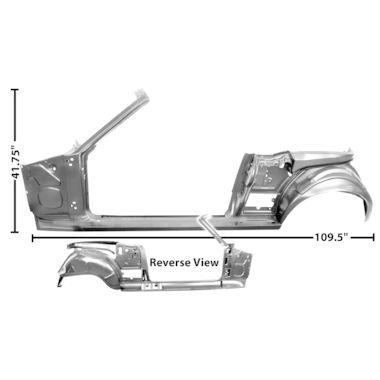 1967-1968 Door / Quarter Frame Assembly, Conv, LH