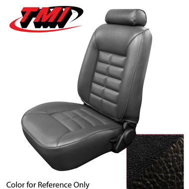 1983 Mustang GL/GLX/GT Conv Low Back Seat Upholstery- Vinyl, Black