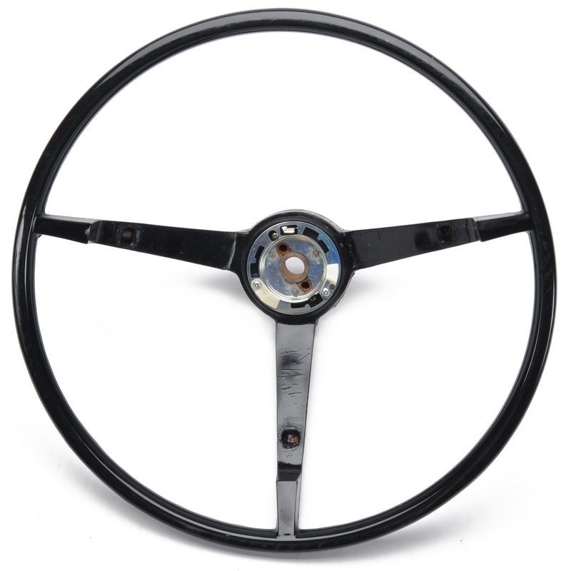 1965 1966 mustang steering wheel standard black ford. Black Bedroom Furniture Sets. Home Design Ideas