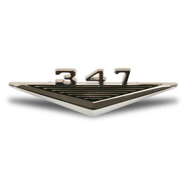 1965-1966 Mustang Fender Emblem, Engine Designation, 347