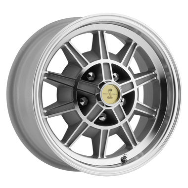 1965-1968 Mustang Legendary GT7 Alloy Wheel, 15 X 7, Clear Coat, Machined