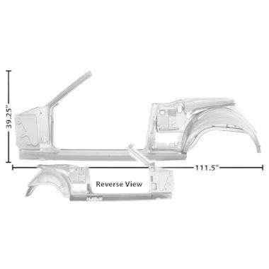 1965-1966 Mustang Dynacorn Door / Quarter Frame Assembly, Conv, LH, Weld Thru Primer