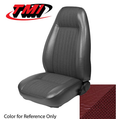 1983 Mustang L Cpe High Back Seat Upholstery- Cloth & Vinyl, Medium Red