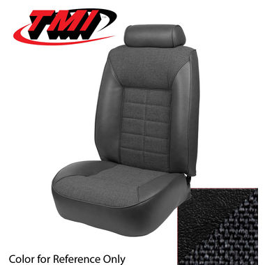 1983 Mustang L HB High Back Seat Upholstery- Cloth & Vinyl, Black