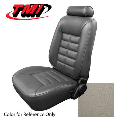 1982 Mustang GLX HB Low Back Seat Upholstery- Cloth & Vinyl, Opal White