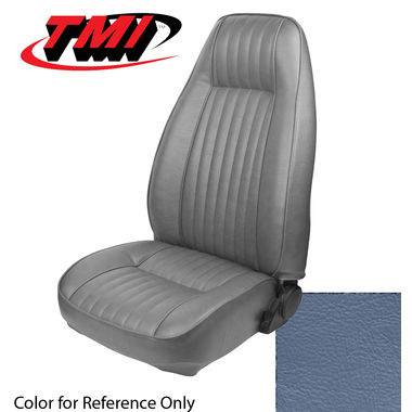 1983 Mustang L HB High Back Seat Upholstery- Vinyl, Academy Blue