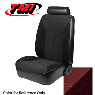 1981 Mustang Ghia Cpe Low Back Seat Upholstery- Cloth & Vinyl, Medium Red