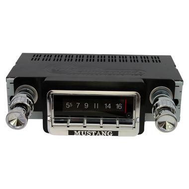 1965-1966 Mustang USA740 AM/FM Radio, w/Bluetooth and AUX/USB Input