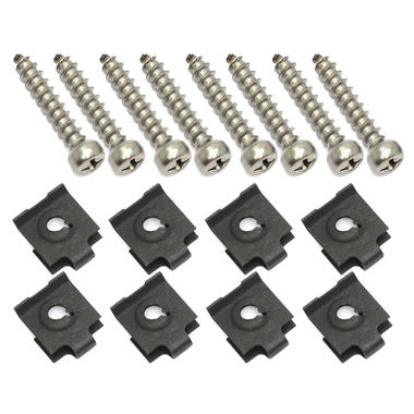 1965-1966 Mustang Headlight Door Hardware Kit, 16 pcs