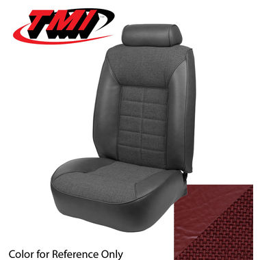 1981 Mustang HB Low Back Seat Upholstery, Cloth & Vinyl, Medium Red; 1982, GLX, Cloth & Vinyl, Medium Red