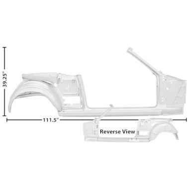 1965-1966 Mustang Dynacorn Door / Quarter Frame Assembly, Conv, RH, Weld Thru Primer